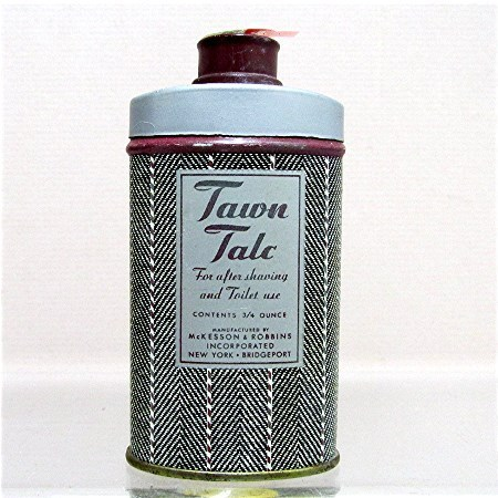 Advertising Tin For Tawn Talc