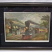 Framed Rail Road Print