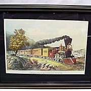 Framed Railroad Train Print