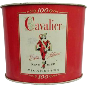 Cavalier Cigarettes Oval Advertising Tin