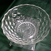 Glass Serving Bowl American Pressed Glass