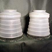 Antique Drop Light Glass Shades Matching Pair