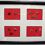 Ten Framed Fly Fishing Flies