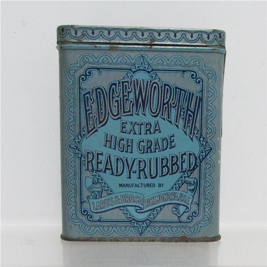 Edgeworth Ready Rubbed Advertising Tobacco Tin