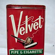 Velvet AdvertisingTobacco Pocket Tin with Off White Lettering