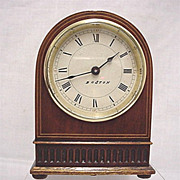 Inlaid Desk or Mantel Clock  Keeps Time