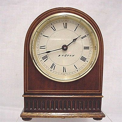 SOLD Inlaid Desk or Mantel Clock  Keeps Time