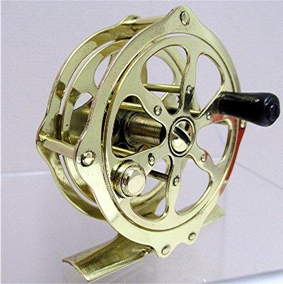 SOLD   See others available    Antique Solid Brass American Fly Reel One Of 30 To Choose From