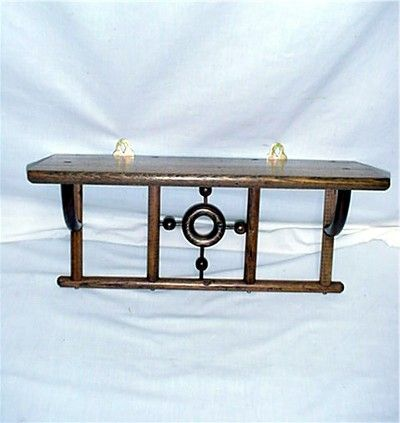 Antique American Chestnut Shelf Wall Shelf