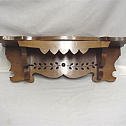 Solid Wood Antique Clock Shelf