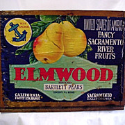 Elmwood Bartlett Pears Wood Box