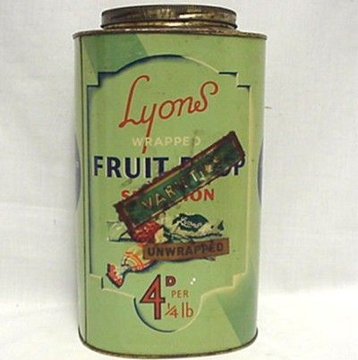 Lyons Fruit Drop Candy Tin