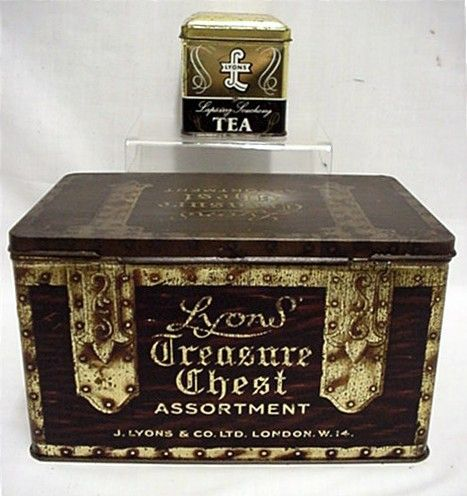 Lyons Advertising Tins Tea and Assorted Biscuits