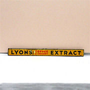 SOLD     See LYONS Tins for SALE   LYONS Coffee and Chicory Extract Tin Advertising Sign