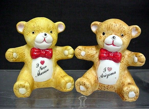 Teddy Bear Souvenir Salt and Pepper Shakers Two Different Sets  $10 each