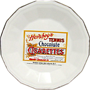 Hershey Tennis Chocolate Cigarettes Porcelain Advertising Plate