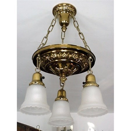 Ceiling Drop Light Fixture American Victorian Circa 1880