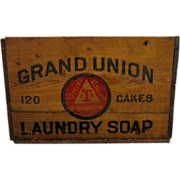 Grand Union Soap Advertising Wood Box 30 Boxes To Choose From