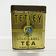 Tetley Tea Advertising Tin Flowery Orange Pekoe
