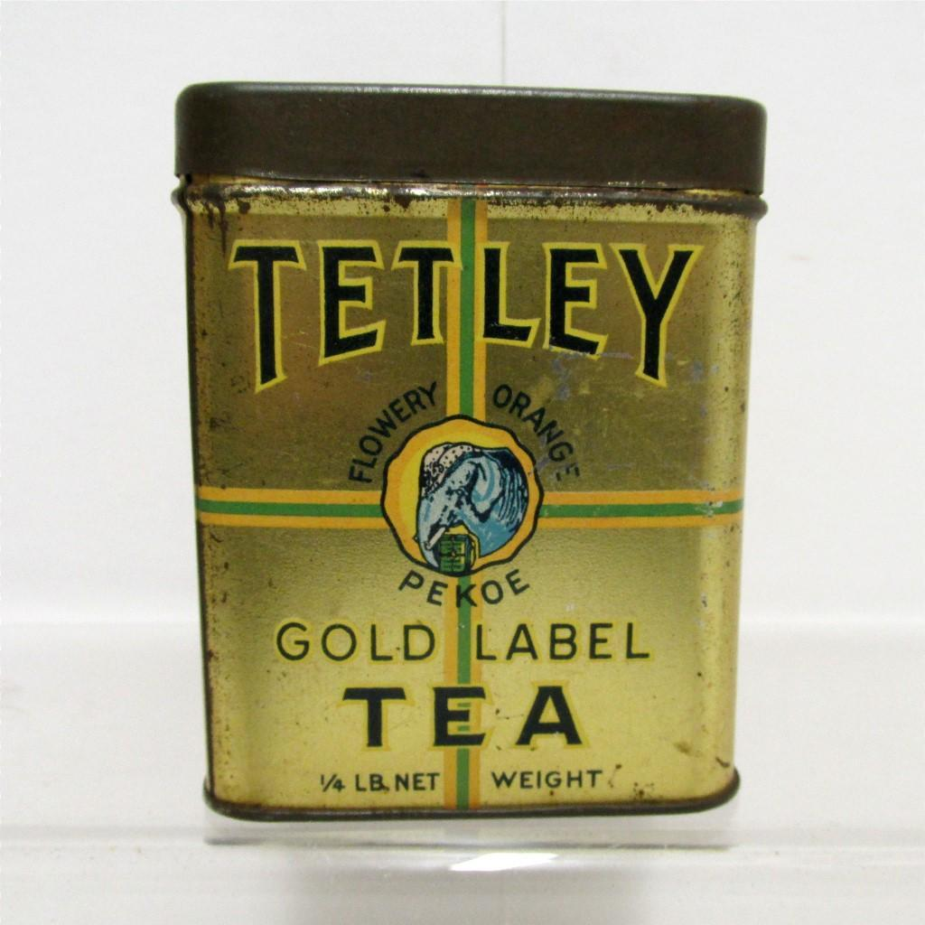 Tetley Tea Advertising Tin Flowery Orange Pekoe