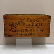 Libbys Wood Advertising Box