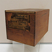 Talcum Powder Wood Advertising Box