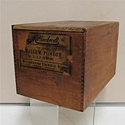 Talcum Powder Wood Advertising Box