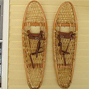 Snowshoes Pair of Bentwood