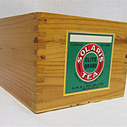 Solaris Tea Caddy  Wood  Advertising  Box