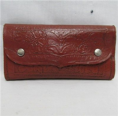Hand Tooled Leather Fly Wallet