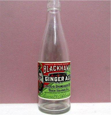 Blackhawk Ginger Ales Bottle