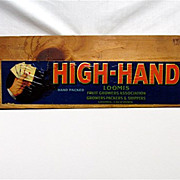 High Hand Wood  Advertising Sign