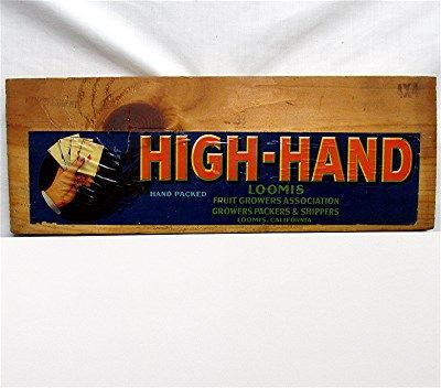 High Hand Wood  Advertising Sign 50% OFF