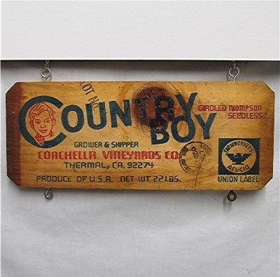 Country Boy Grape Wood  Advertising Sign  $12