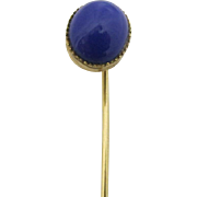 Stick Pin Deep Blue Cabochon Stone