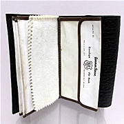 Textured Leather Fly Wallet Common Sense