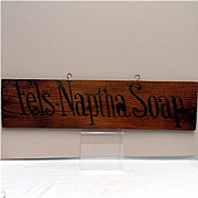 Fels-Naptha Soap Wood Advertising Sign