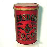 Bensdorp's Royal Dutch Cocoa Soda Fountain  Tin Canister