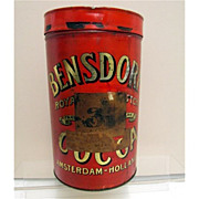 Bensdorp's  Royal Dutch Cocoa Soda Fountain Tin