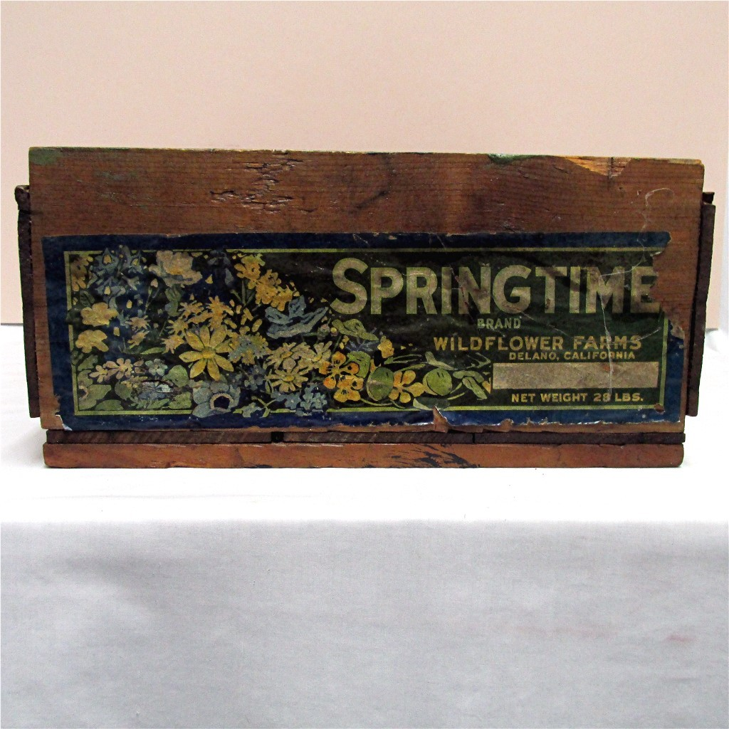 SOLD Wildflowers Farms Crate Springtime Brand Floral Label
