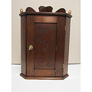 Antique American Corner Cupboard