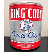 King Cole Potato Chips Tin