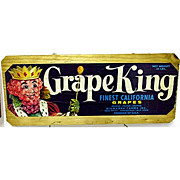 Grape King Wood Advertising Sign