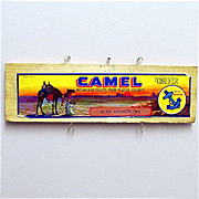 Camel Wood Advertising Sign