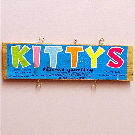 Kitty's Wood Advertising Sign