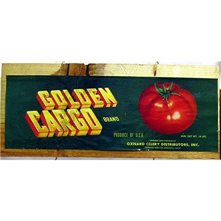 Golden Cargo Tomatoes Advertising Sign