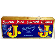 Blue Jay Grapes Wood Advertising Sign