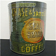 Chase & Sanborn's Seal Brand Coffee Advertising Tin