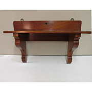 Mahogany Clock Shelf Antique