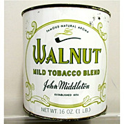 SOLD    Walnut Tobacco Tin One Pound  Unopened 50% OFF